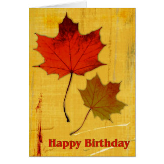 Feuille d'automne 1 anniversaire cartes de vœux