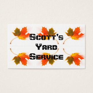 Feuille d'automne cartes de visite
