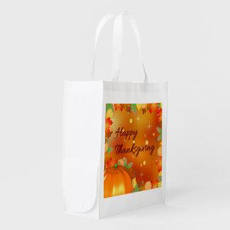 Feuille d'automne coloré - sac réutilisable de