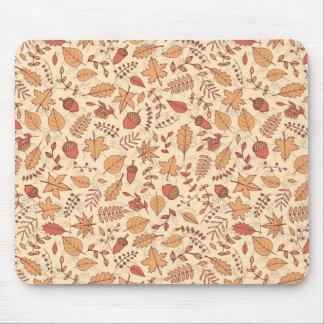 Feuille d'automne tapis de souris