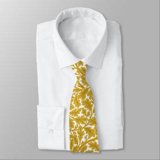 Feuille de chêne de William Morris, jaune de Cravates
