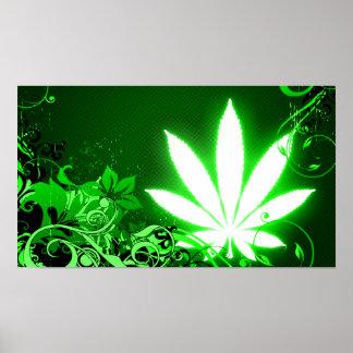 feuille de haute fidélité de marijuana posters