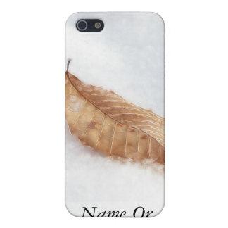 Feuille de hêtre dans une dérive de neige coques iPhone 5