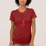 Feuille de rouge de la lettre J de monogramme T-shirt