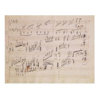 Feuille de score de 'clair de lune Sonata Carte Postale
