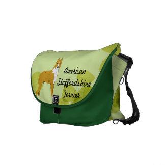 Feuille de vert de ~ du Staffordshire Terrier amér Besaces
