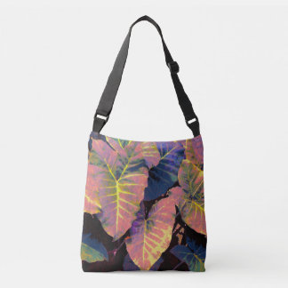 Feuille d'éléphant aux pastels tropicaux sac ajustable