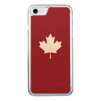 Feuille d'érable blanche du Canada Coque Carved iPhone 8/7