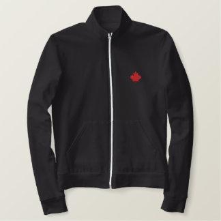 Feuille d'érable brodée - fierté canadienne ! veste jogger molletonnée brodée