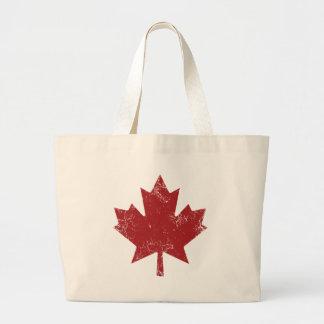 Feuille d'érable canadienne (affligée) grand sac