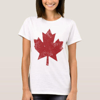 Feuille d'érable canadienne (affligée) t-shirt