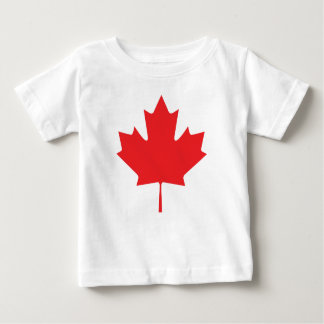 Feuille d'érable canadienne t-shirt pour bébé