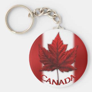 Feuille d'érable de porte - clé et du Canada de Porte-clé Rond