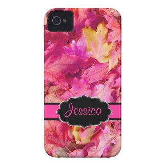 Feuille d'érable de roses indien de coques iPhone 4 Case-Mate