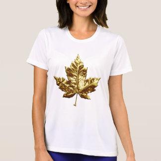 Feuille d'érable d'or de T-shirt de souvenir du