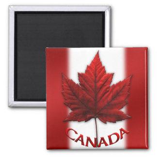 Feuille d'érable du Canada d'aimant de Magnet Carré