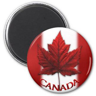 Feuille d'érable du Canada d'aimant de Magnet Rond 8 Cm