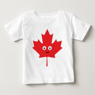 Feuille d'érable heureuse t-shirt pour bébé