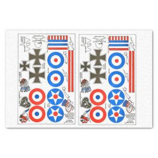 feuille d'insignes d'avion modèle de Dixième de Papier Mousseline