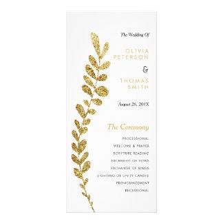 Feuille d'or Editable de Faux de couleur épousant Carte Double
