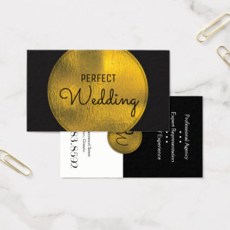 Feuille d'or élégante de carte de visite de