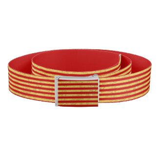 Feuille d'or élégante et motif rouge de rayure