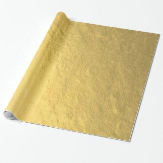 Feuille d'or élégante imprimée papier cadeau