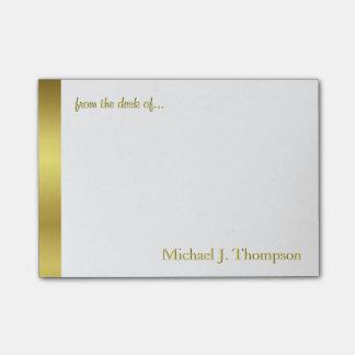 Feuille d'or élégante moderne notes autocollantes
