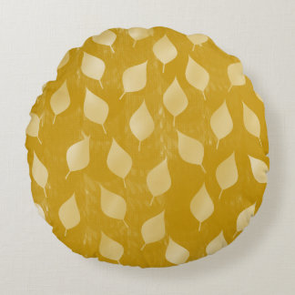Feuille d'or rougeoyant coussins ronds