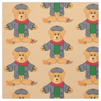 Feuille d'ours de nounours en automne tissu