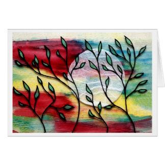 Feuille et couches transparentes d'encre cartes de vœux