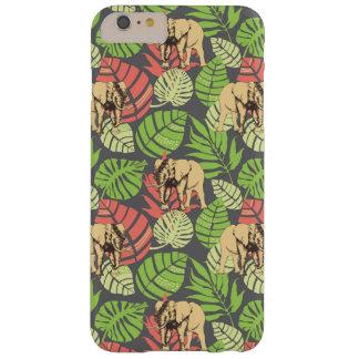 Feuille et éléphants exotiques de jungle coque barely there iPhone 6 plus
