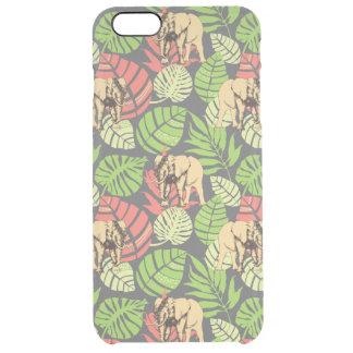 Feuille et éléphants exotiques de jungle coque iPhone 6 plus
