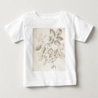 Feuille et fleurs - 19ème siècle britannique t-shirt pour bébé
