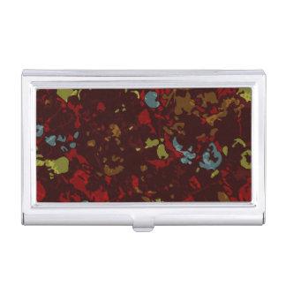 Feuille et fleurs colorés contre le camouflage boîtiers pour cartes de visite