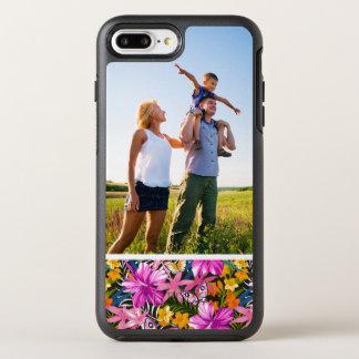 Feuille et fleurs tropicaux de photo coque otterbox symmetry pour iPhone 7 plus
