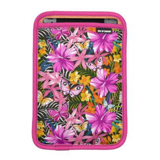 Feuille et fleurs tropicaux housse iPad mini