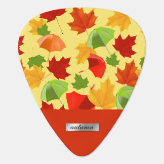 Feuille et parapluies d'automne médiators