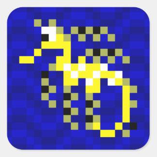 Feuille feuillue d'autocollant de Seadragon de Sticker Carré