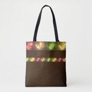 Feuille grunge d'automne coloré - sac fourre-tout