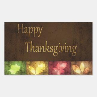 Feuille grunge de bon thanksgiving - autocollant
