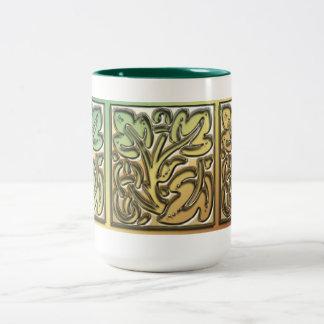 Feuille ornemental tasse 2 couleurs