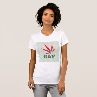 Feuille rouge/verte de GAV se fanent T-shirt
