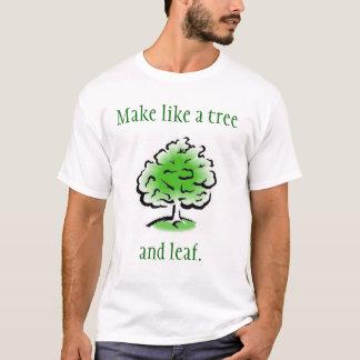 Feuille T-shirt