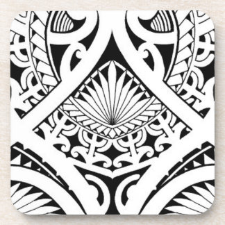 feuille tribale maorie polynésienne mélangée de dessous-de-verre