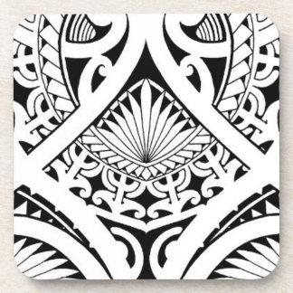 feuille tribale maorie polynésienne mélangée de no sous-bocks