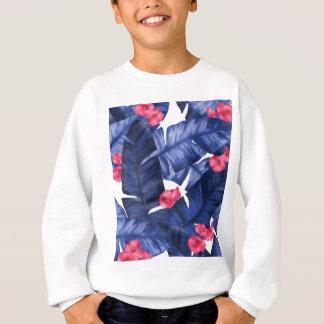 Feuille tropical de banane avec le motif de fleur sweatshirt