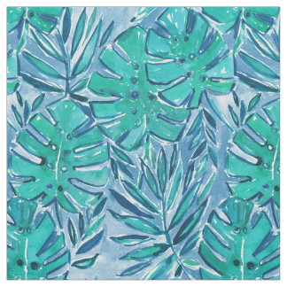Feuille tropical de BON de JUJU vert de JUNGLE Tissu