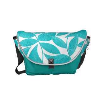 Feuille tropical de turquoise sacoches