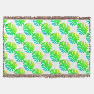 Feuille tropicale couvertures